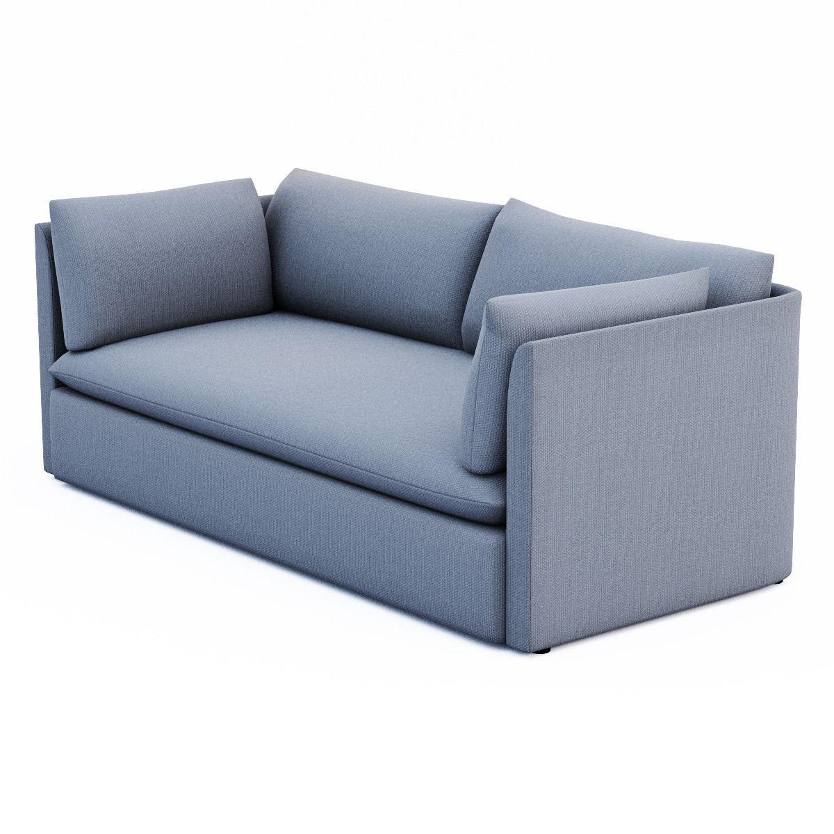 ... West Elm Shelter Sofa 3d Model Max Obj 3ds Fbx Dxf Dae 2 ...