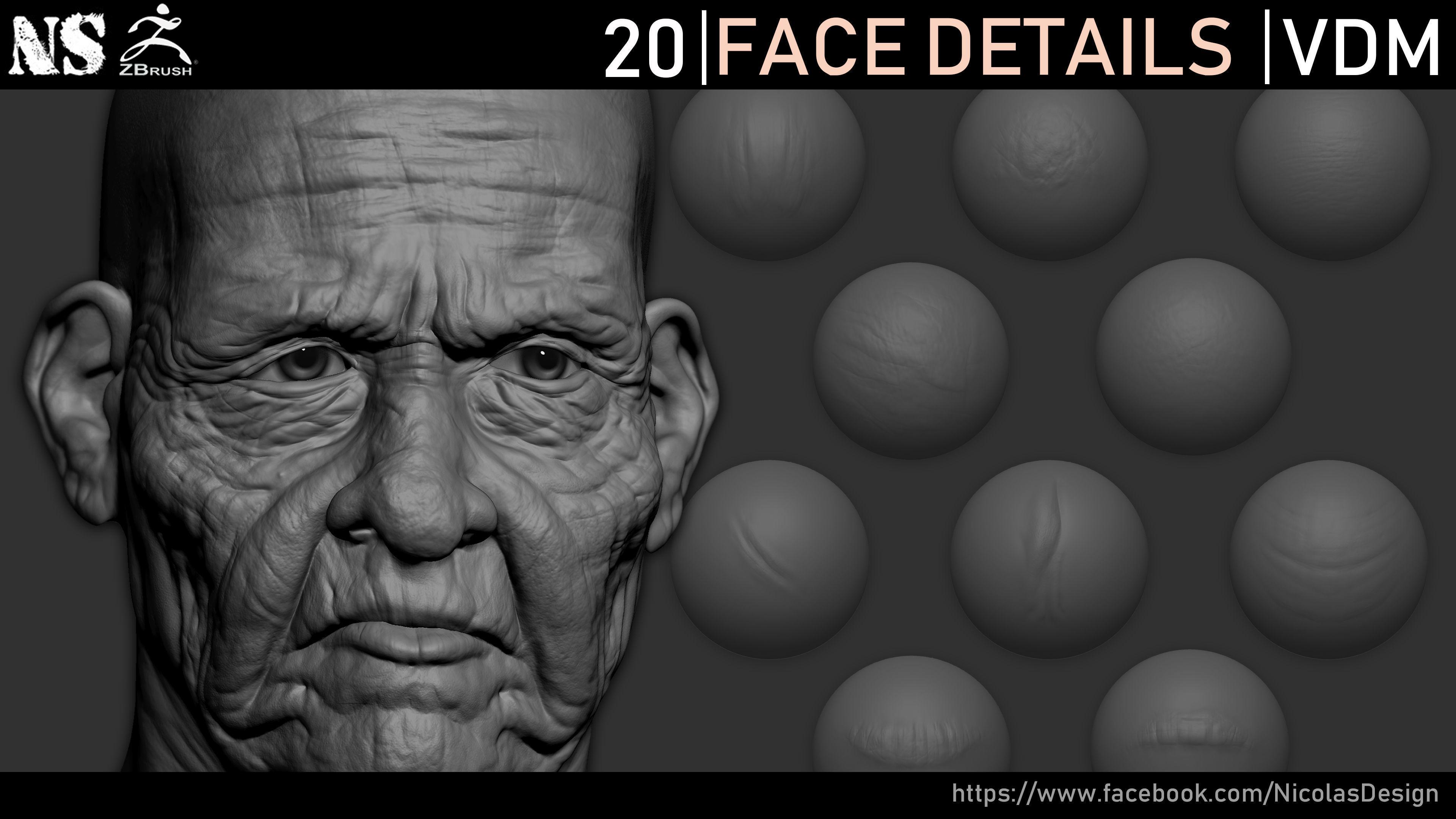 Zbrush - Face Details VDM Brush