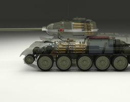 3D model T-34 85 Interior Engine Bay Full