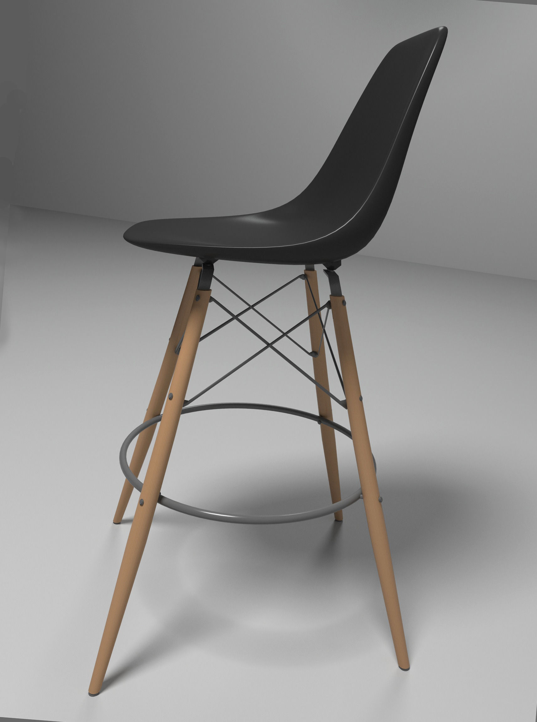 Charmant ... Eames Bar Chair 3d Model Max Obj Mtl 3ds Fbx 3 ...