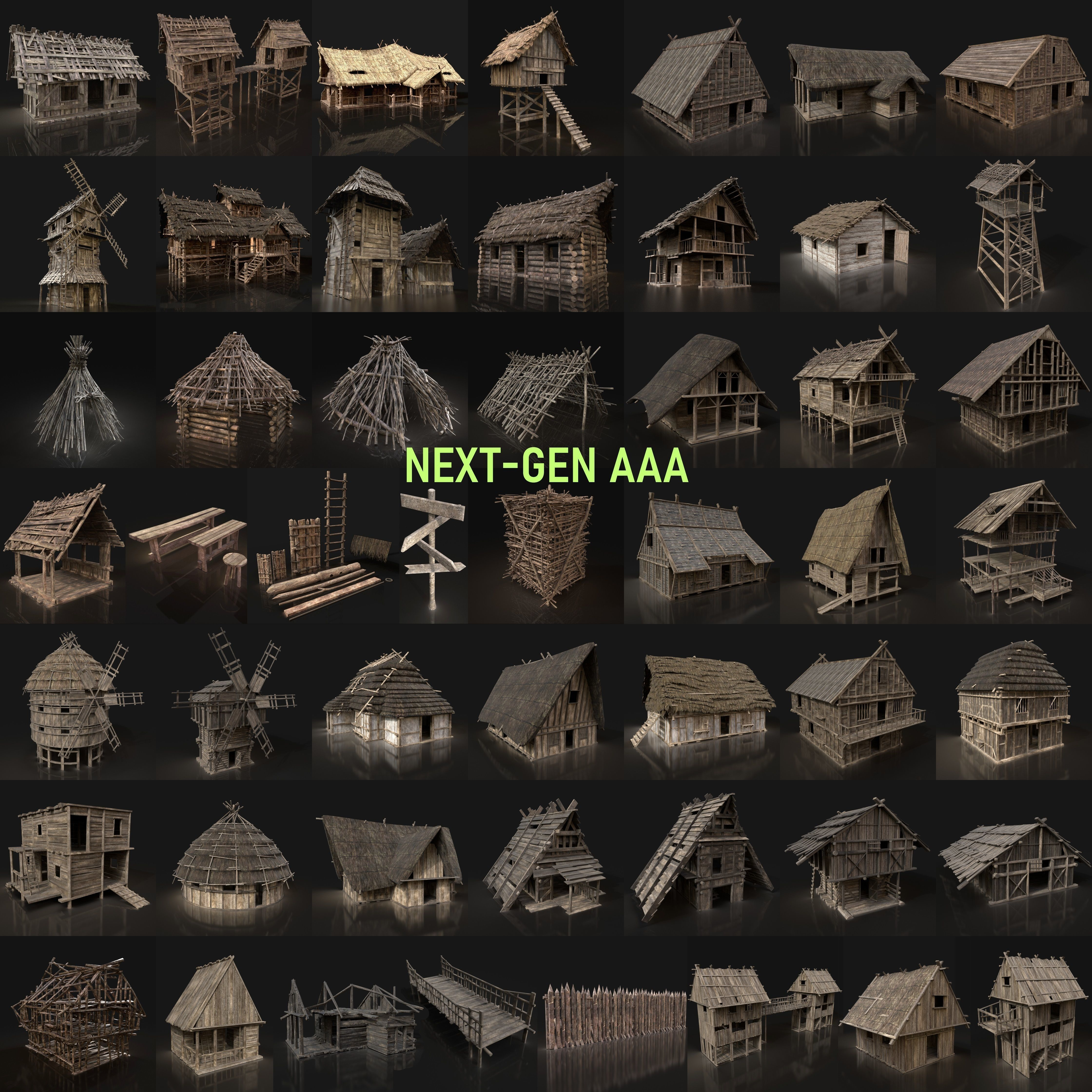 NEXT GEN AAA GIGAPACK MEDIEVAL VILLAGE CITY BUILDER PACK