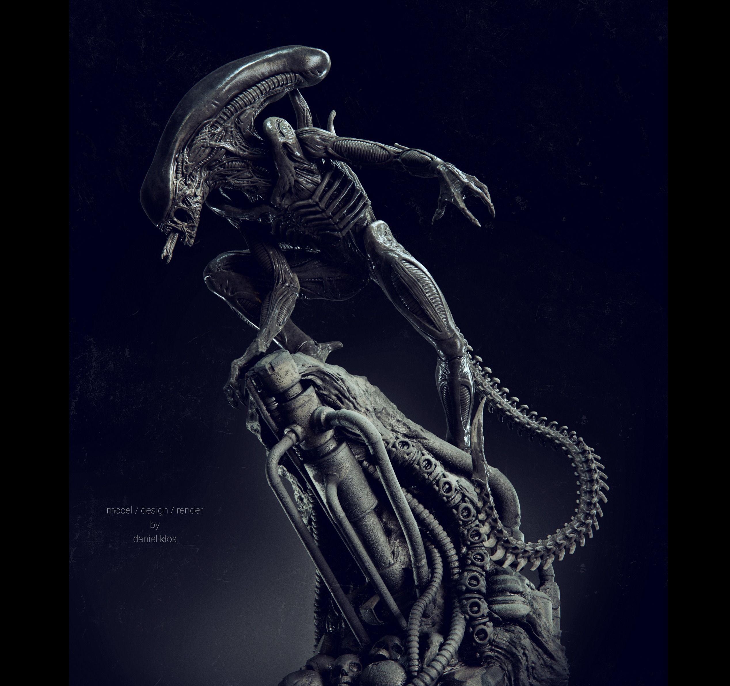 Alien Statue Fanart