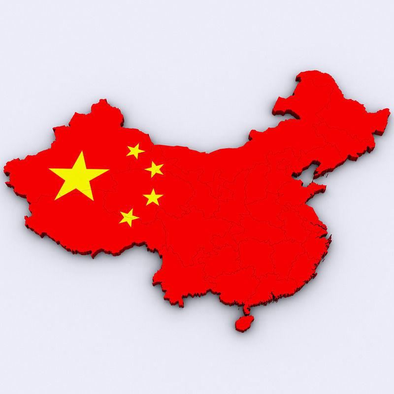 Map of China 3D | CGTrader