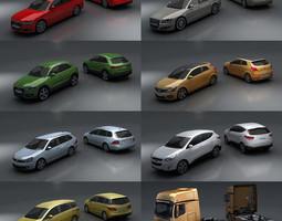 15 - City cars models 3D Model