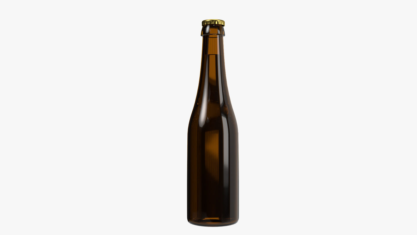 Beer bottle brown 04