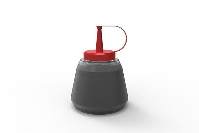 sauce bottle 3d model 3dm 1