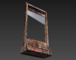3D printable model guillotine