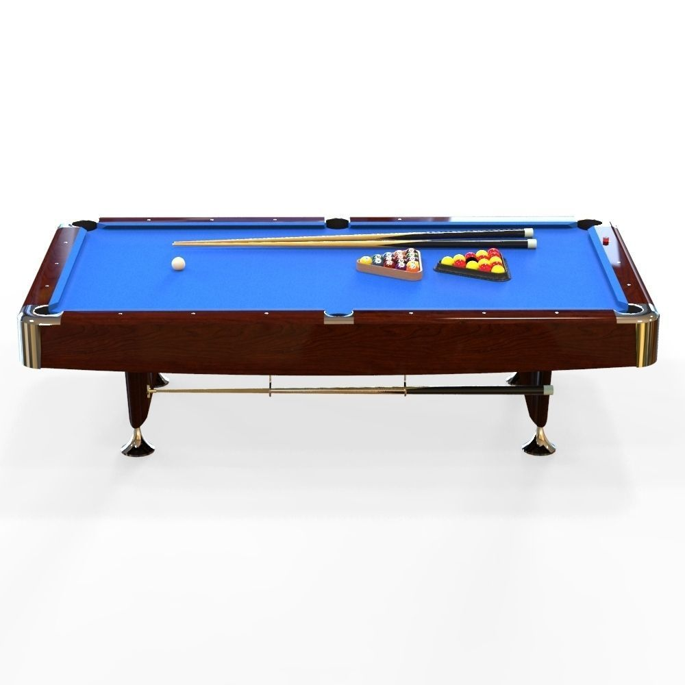 3d model american pool table vr ar low poly fbx ma mb for Table 3d model