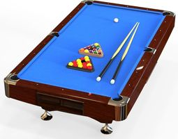 american pool table realtime 3d model