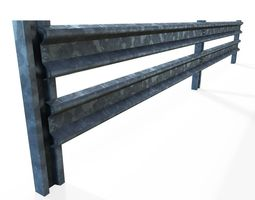 low-poly 3d model armco barrier