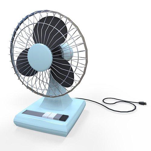 New Electric Fan : Electric fan d asset cgtrader