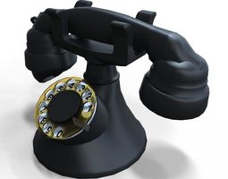 old rotary phone realtime 3d model