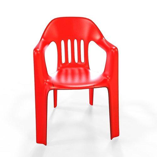 plastic chair 3d model fbx ma mb 1