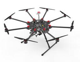 DJI S900 camera drone 3D Model