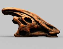 3d model dinosaur skull low-poly