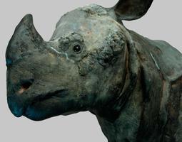 rhino head 3d asset realtime