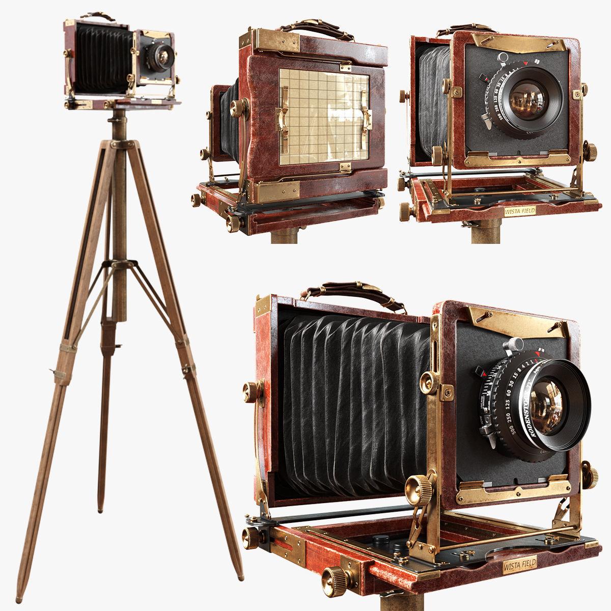 Vintage Wista Field Camera on a Tripod