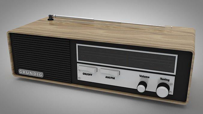 grundig vintage radio 3d model c4d 1