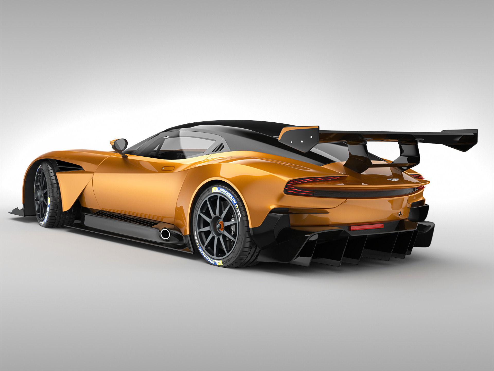 Aston Martin Vulcan 2016 3D Model .max .obj .3ds .fbx