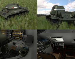 T-34-85 with Interior HDRI 3D Model