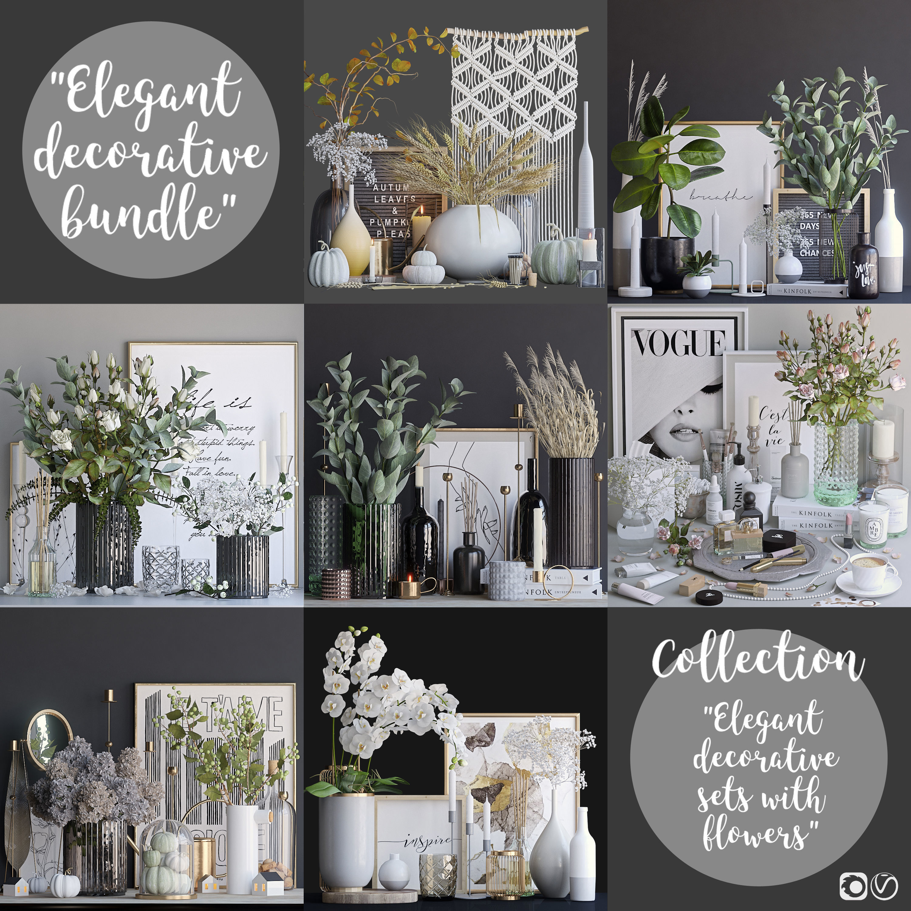 Elegant decorative sets - 1