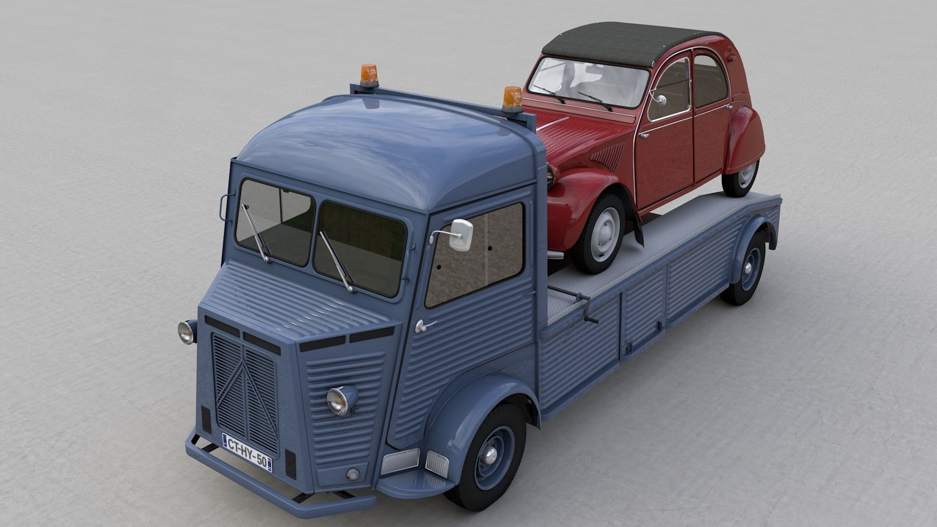 CITROEN HY TRUCK 1950 and CITROEN 2CV 1957