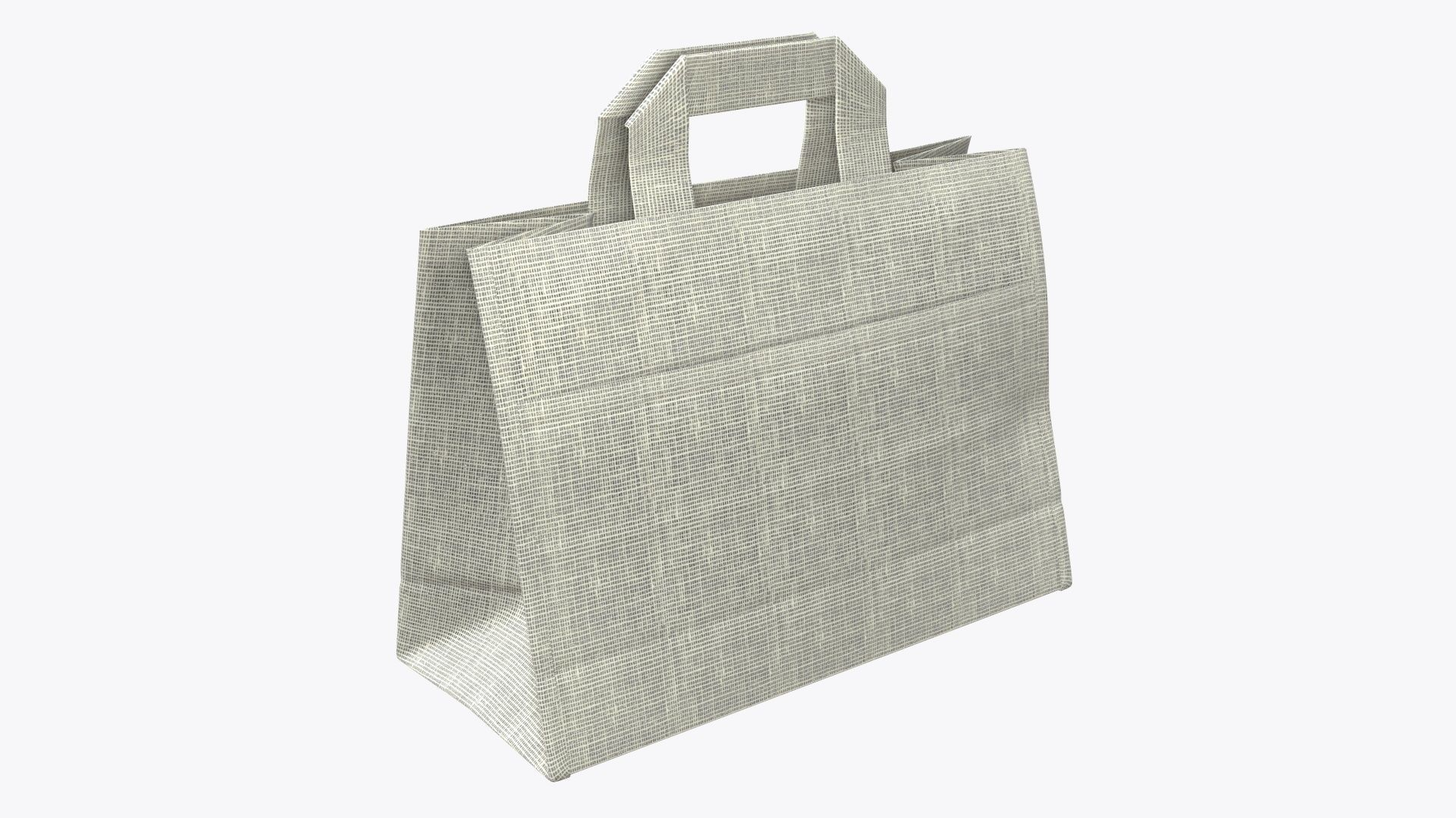 Fabric gift food store bag medium with handle