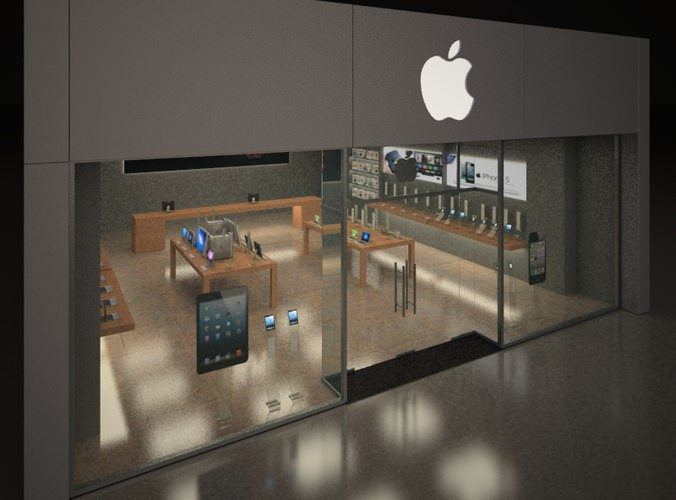 Apple Shop 3d Model Max