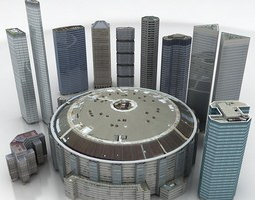 10 buildings a VR / AR ready 3d model