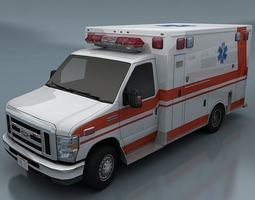 Ambulance 3D asset
