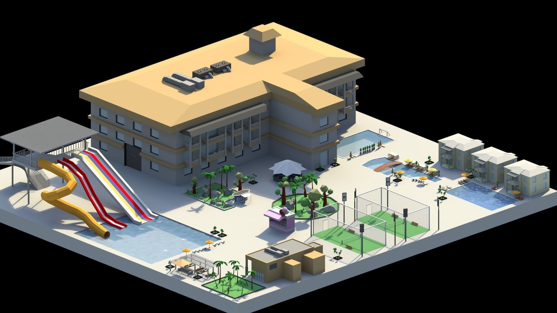 Low Poly Holiday Resort