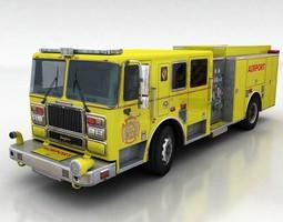 firetruck 1 3D Model