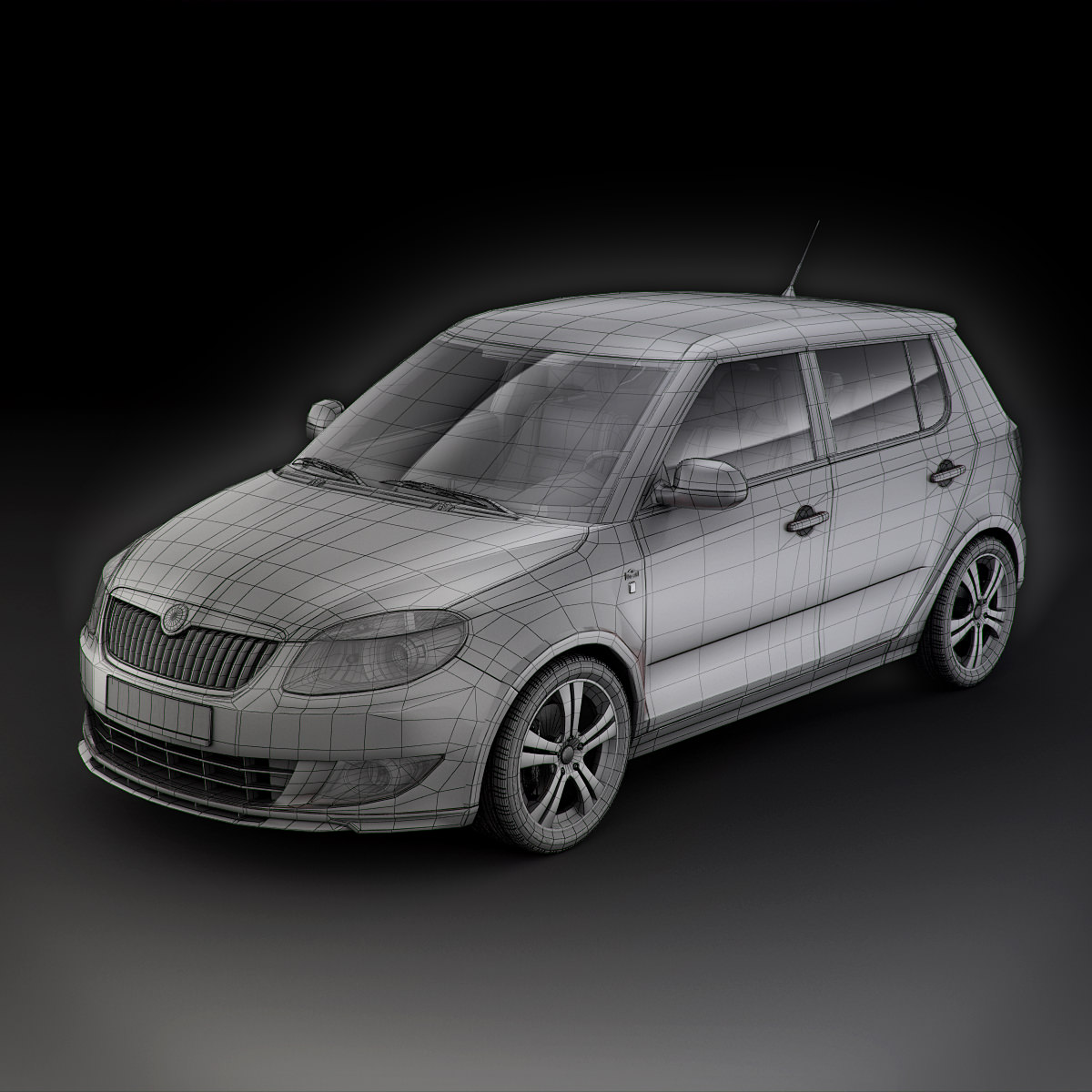 skoda fabia 5j monte carlo 2011 3d models. Black Bedroom Furniture Sets. Home Design Ideas