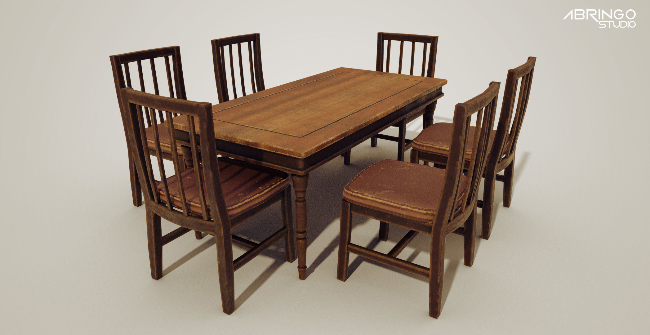 Wood table and chair sets