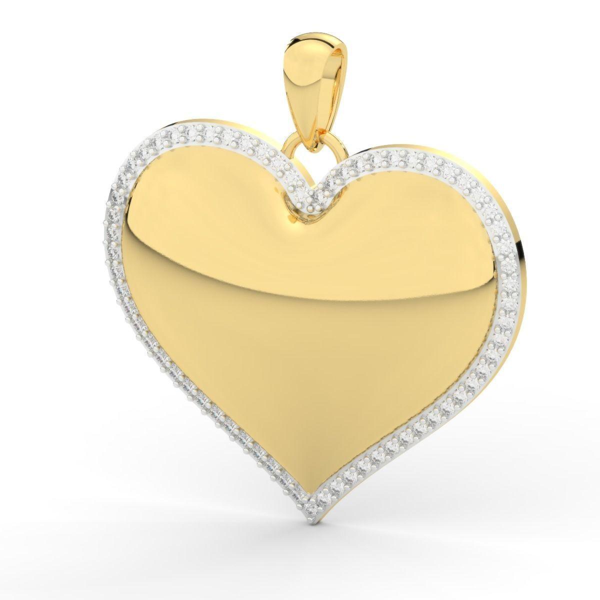 heart pendant diamonds