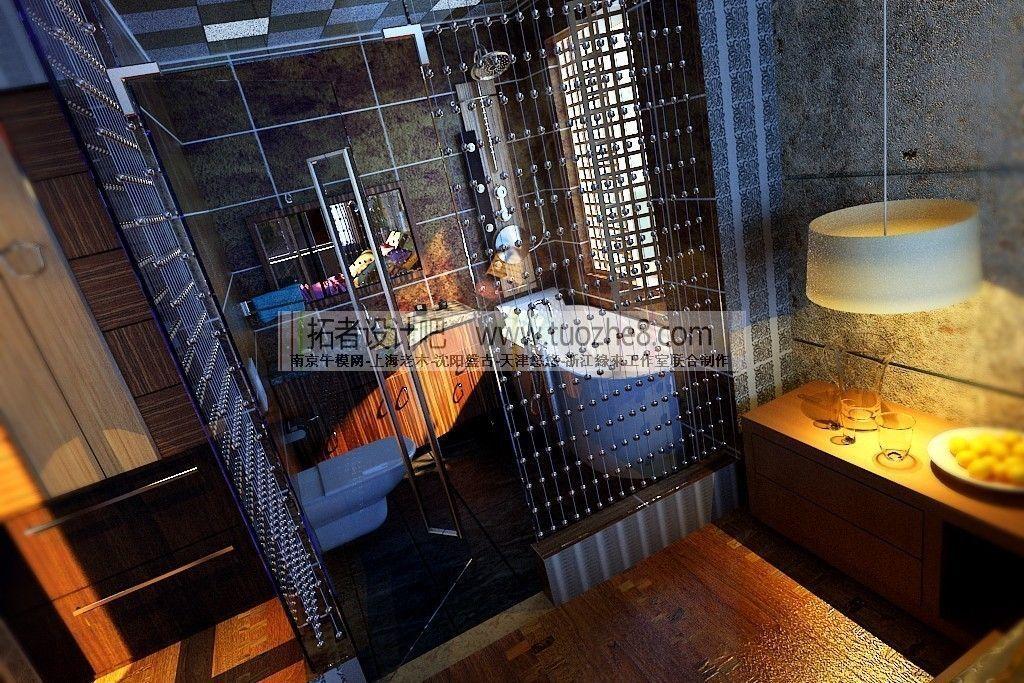 Stylish interior design living room restau 3d model max - Kitchen and bathroom design models ...
