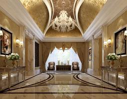 Hall corridor 22704 3D model