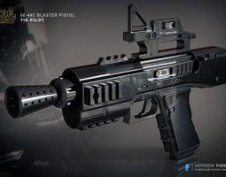 3D print model SE-44C blaster pistol