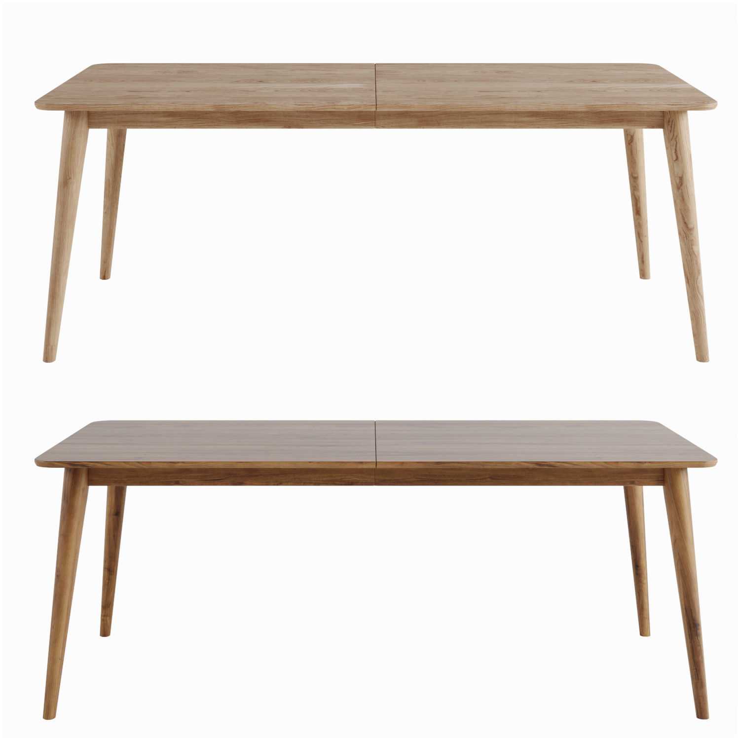 3d Dining Table Tate Walnut Extendable Midcentury Crate 1
