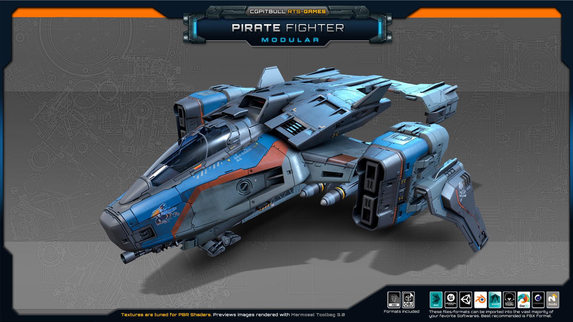 SF Modular Pirate Fighter