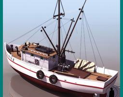 SHRIMP BOAT FISHING SHIP 3D Model