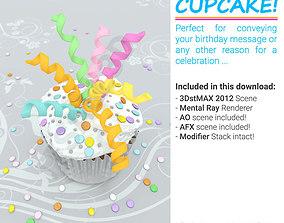 CUPCAKE - BIRTHDAY CREAM CAKE 3D model