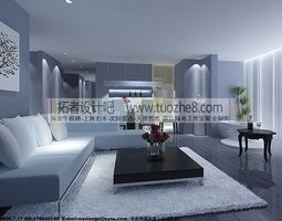 Stylish interior design living room restaurant bedroom kitchen bathroom  239 3D Model