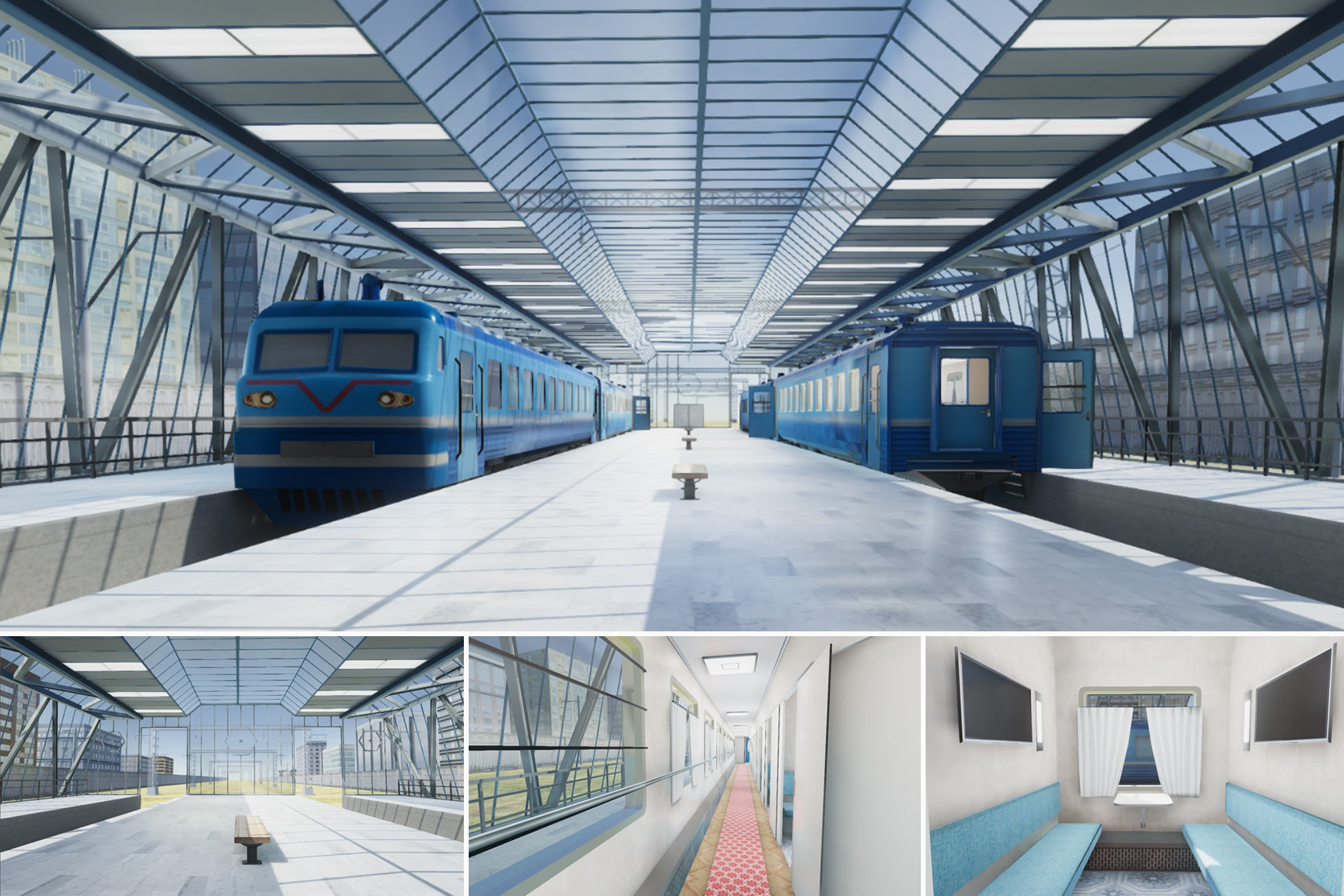 Train Station 01 with Interior