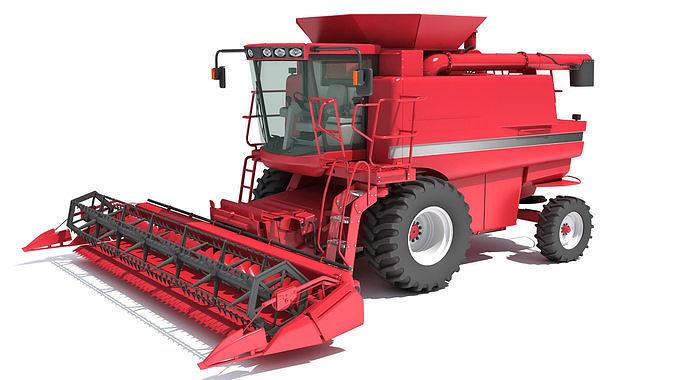Red Combine Harvester