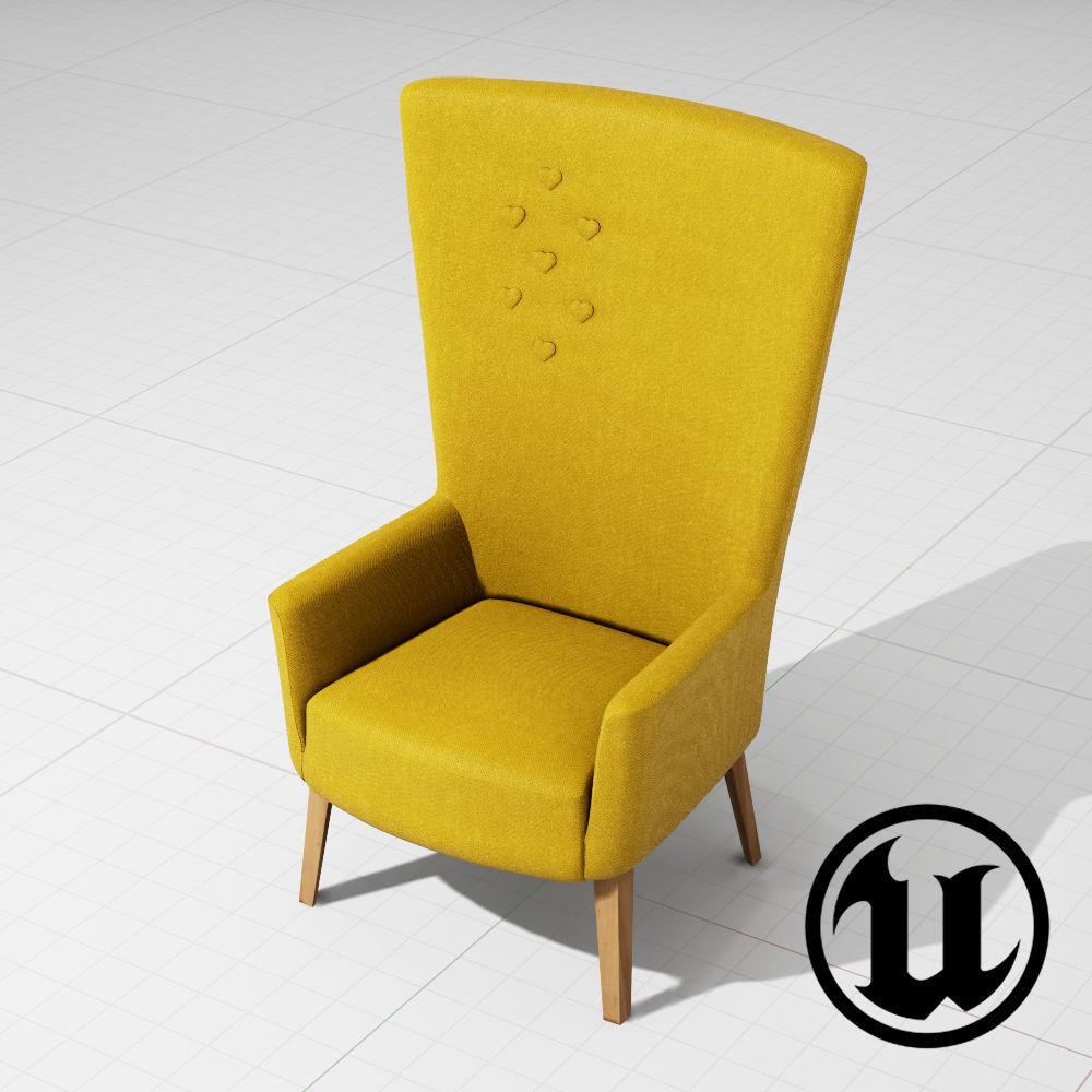LovedUp Chair - Steel Cut Trio UE4
