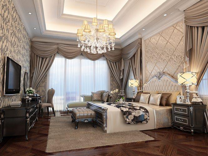 Luxurious Bed Room 3D model3D model