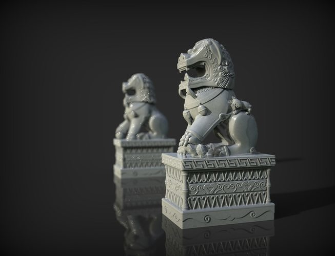 China lions statue