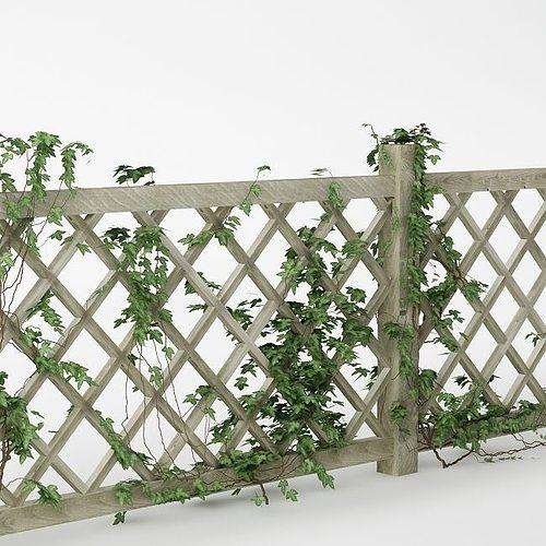 fence 01 with ivy 3d model max obj mtl fbx tga 1