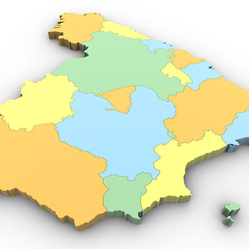 map of spain 3d model max obj 3ds mtl tga 4